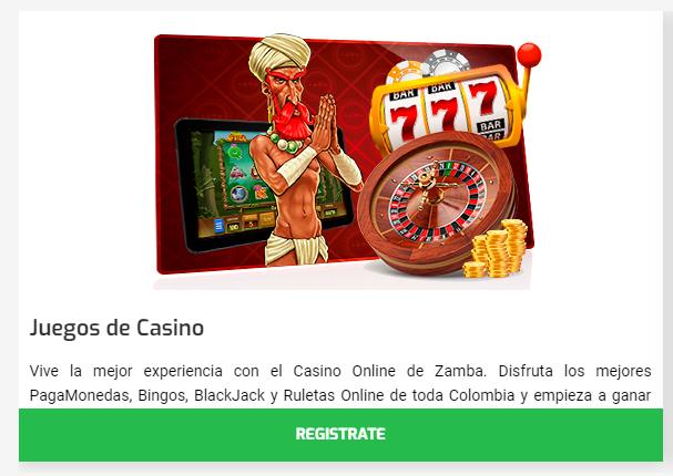 Regístrate para jugar en Zamba Casino